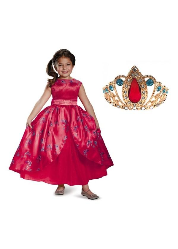 Disney Elena Girls Ball Gown And Tiara Set - Tv Show Costumes