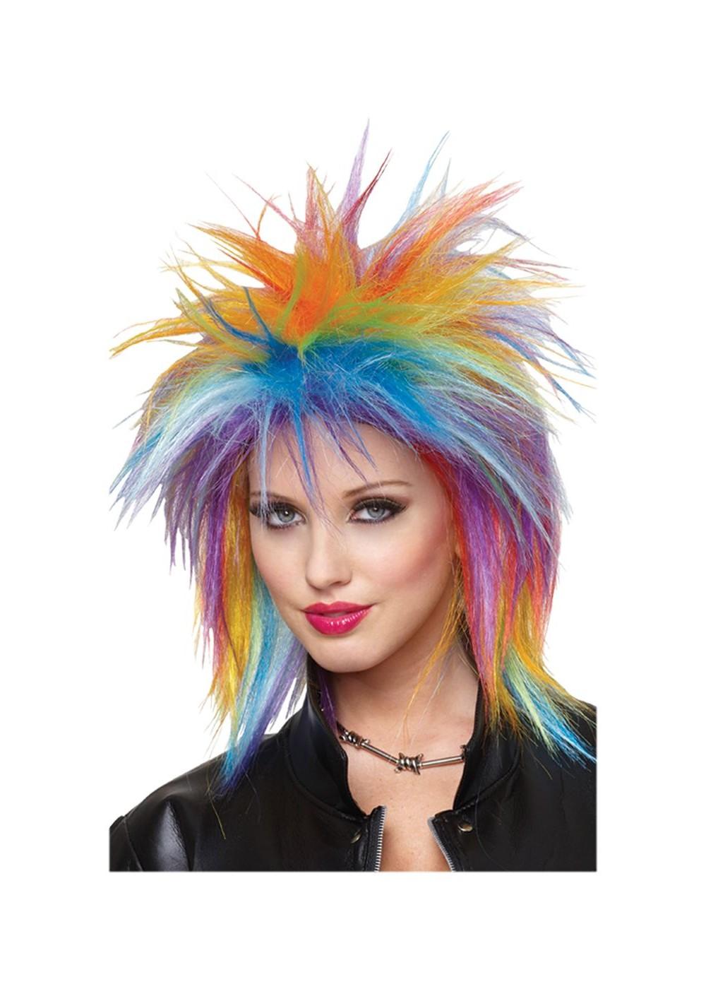 Spiky Rainbow Wig  Wigs