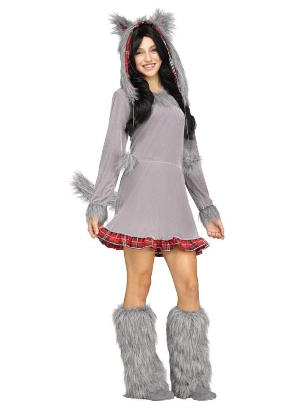 Wolf Cub Teen Girls Costume - Animal Costumes