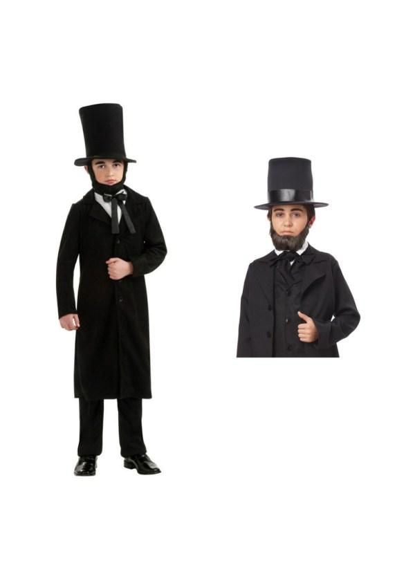 Abraham Lincoln Boys Costume And Beard Set - Patriotic