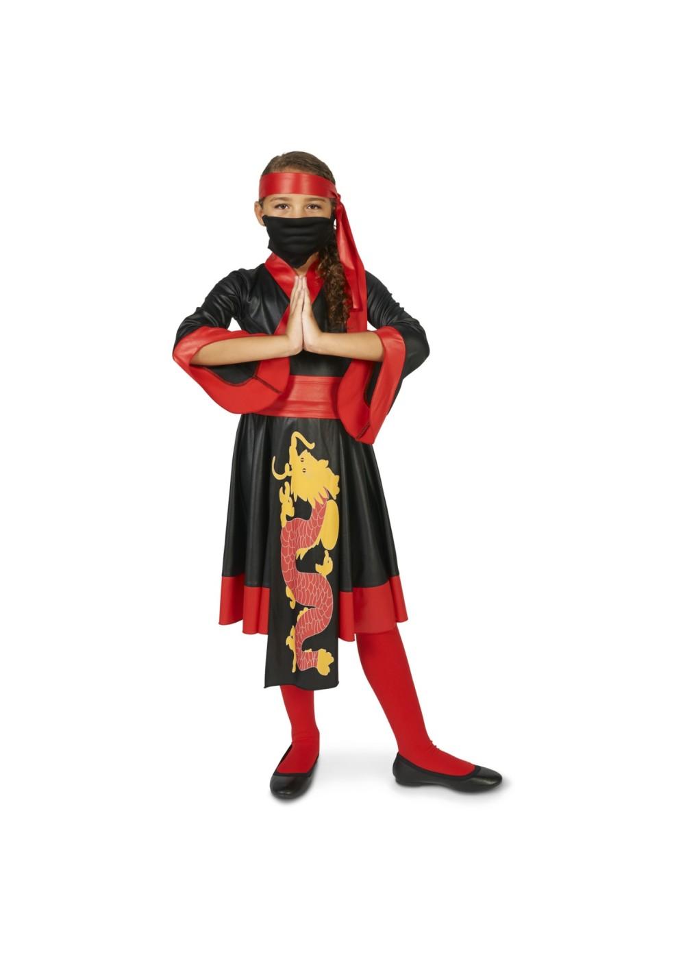 Fire Dragon Ninja Girls Costume  Ninja Costumes