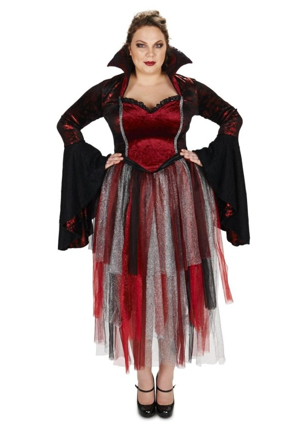 Red Velvet Goth Queen Womens Costume - Witch Costumes
