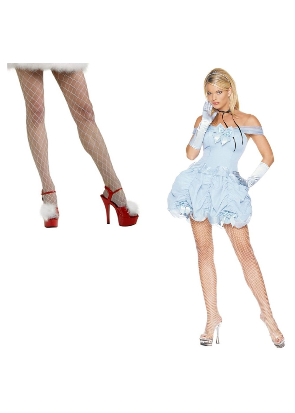 Southern Belle Women Costume and Fishnet Stockings Set  Sexy Costumes