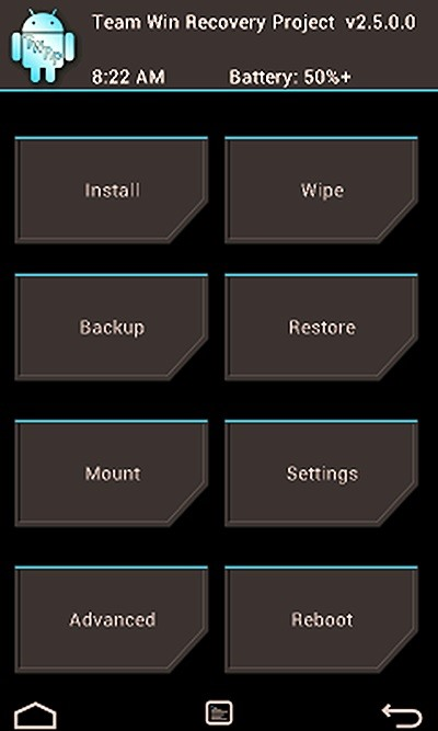 TWRP Screen courtesy by nexus7.wonderhowto.com