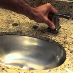 Kitchen Faucets Lowes Prefab Outdoor Cabinets How To Install A New Delta Single Handle Bathroom Faucet ...