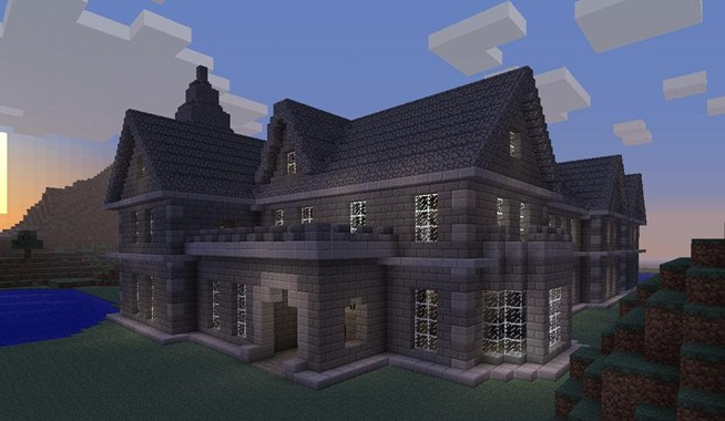 minecraft stone house ideas