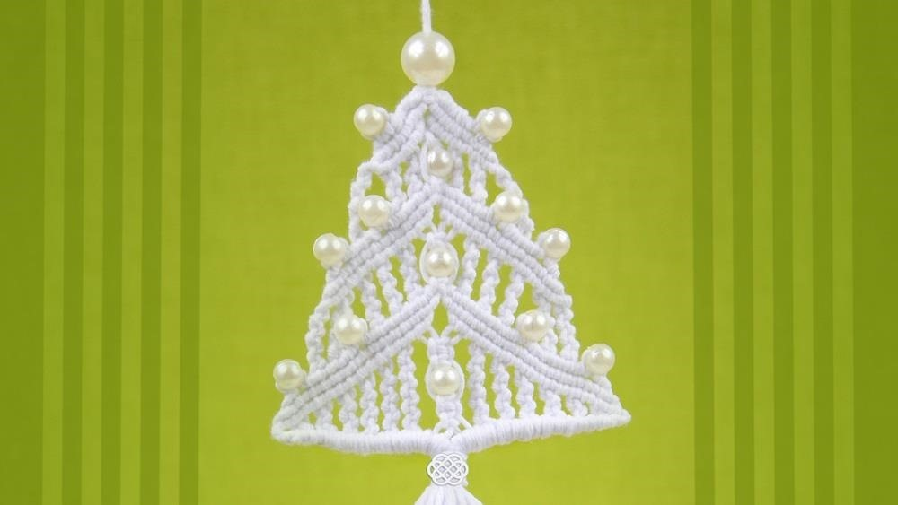How To Make A Macrame Christmas Tree Ornament Christmas