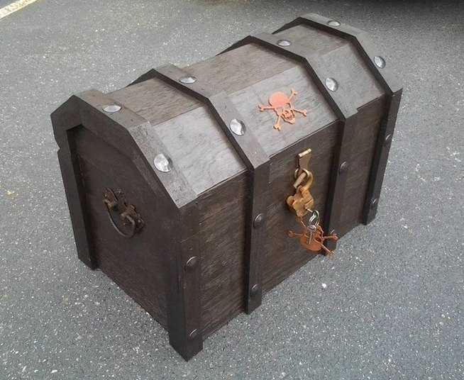 Great Wooden Pirates Chest Plans Diy Blueprints Pirates Chest