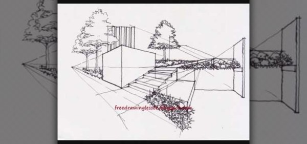 How to Draw architectural landscape Drawing