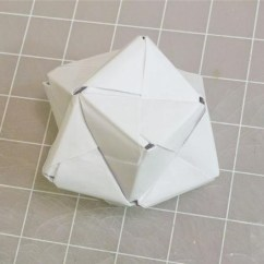 Cool Modular Origami Diagram Wiring For 49cc Mini Chopper How To Make A Cube Octahedron Icosahedron From Sonobe Units