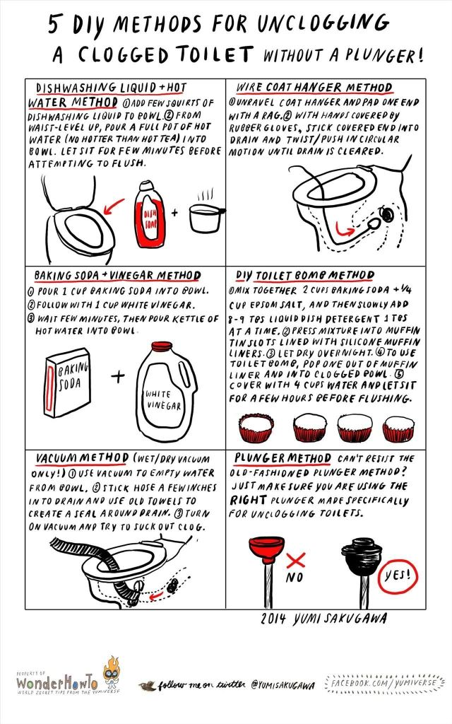 5 DIY Methods for Unclogging a Clogged Toilet Without a Plunger