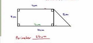 How to Find the perimeter & area of a complex figure