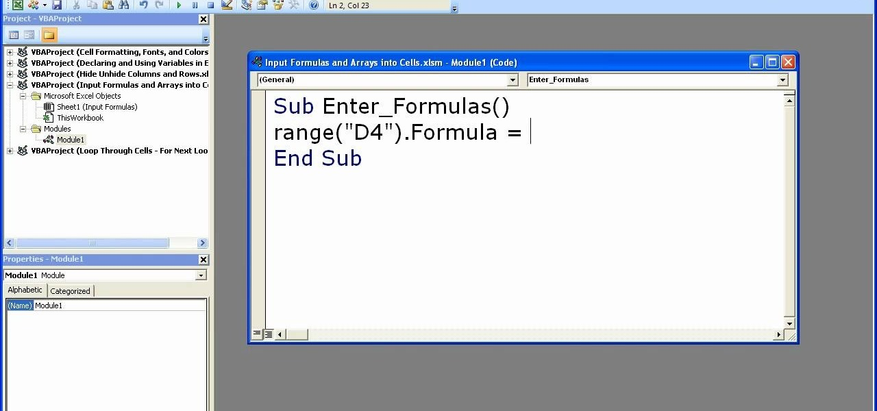 How to Enter formulas in Excel with a macro « Microsoft Office ...