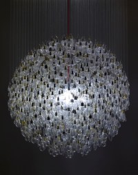 1200 Old Light Bulbs Make One Dazzling Chandelier ...