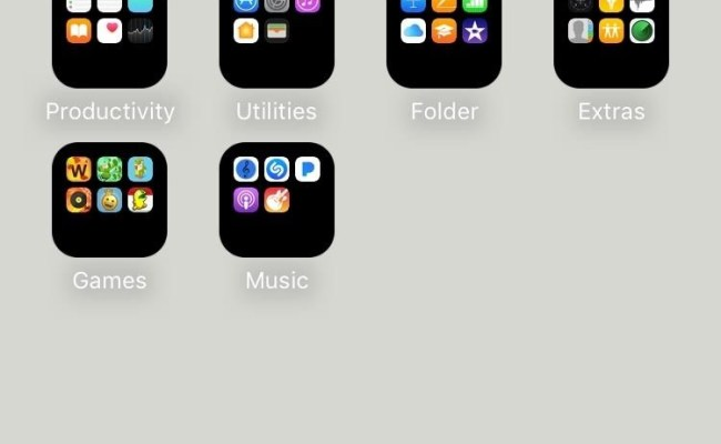 How To Get A Black Dock Folders On Your Iphone S Home