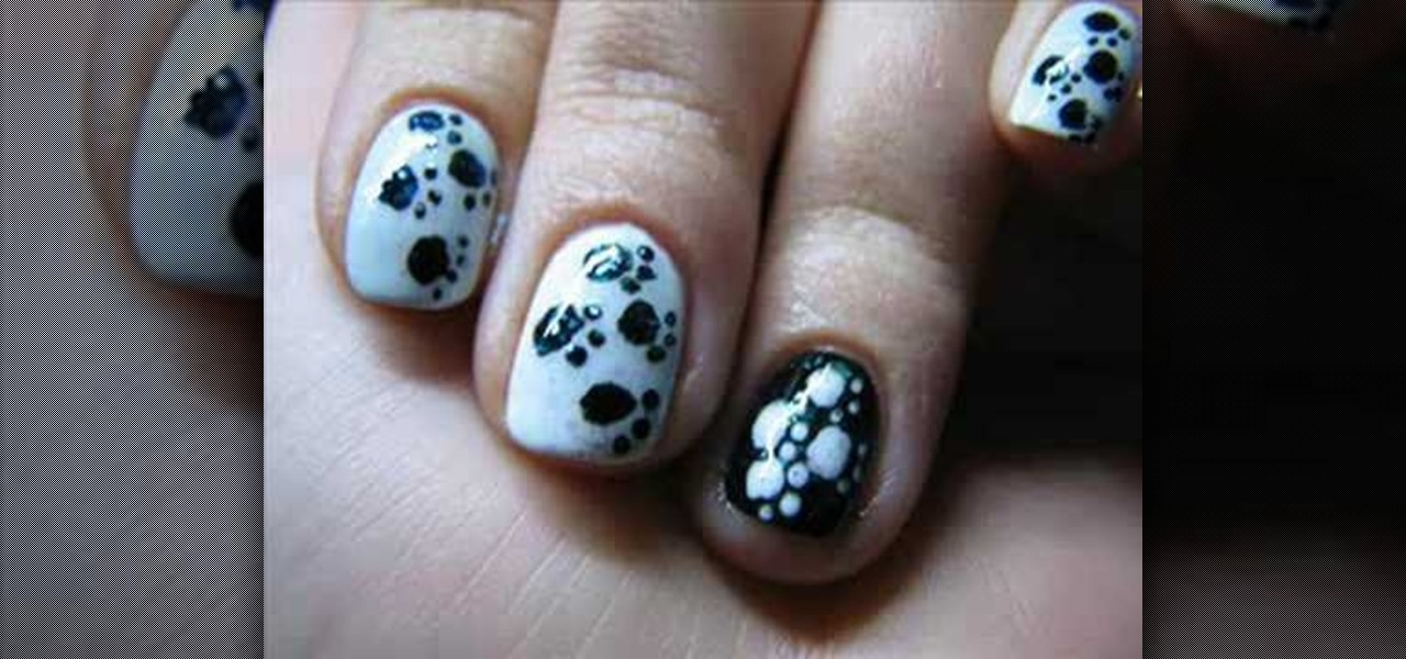 How To Create A Paw Print Manicure Nail Design Nails Wonderhowto