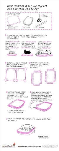 How to Make an Easy No-Sew Pet Bed for Your Cat or Dog ...