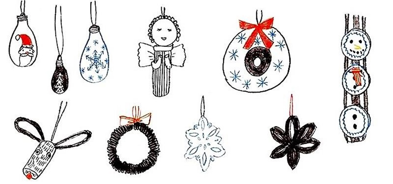 12 DIY Christmas Tree Ornaments You Can Make from Things