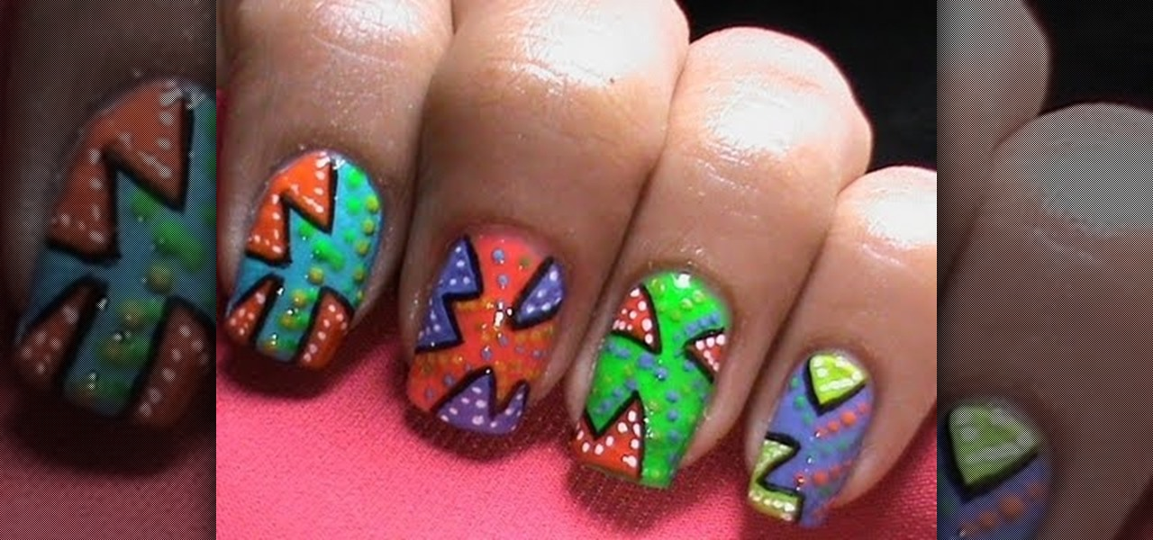 Do Pop Art And Neon Nail Polish Designs