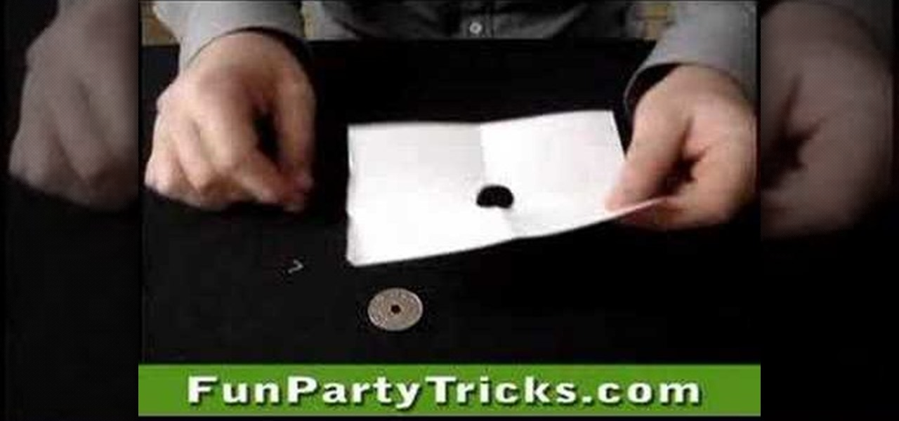 How to Do the large coin small hole trick  Prop Tricks