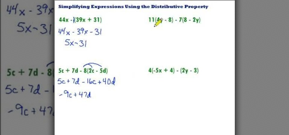 How To Simplify Using The Distributive Property Math