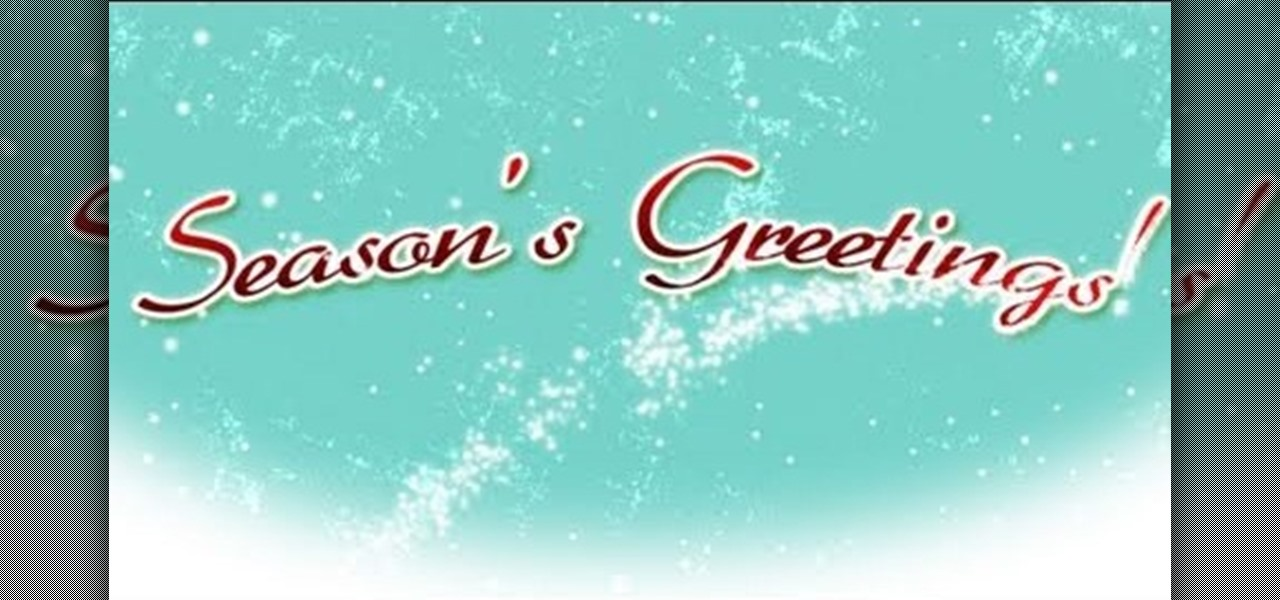 How To Create An Animated Christmas Greeting In Adobe