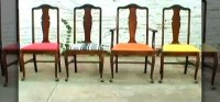 How to Re-upholster vintage dining room chairs ...