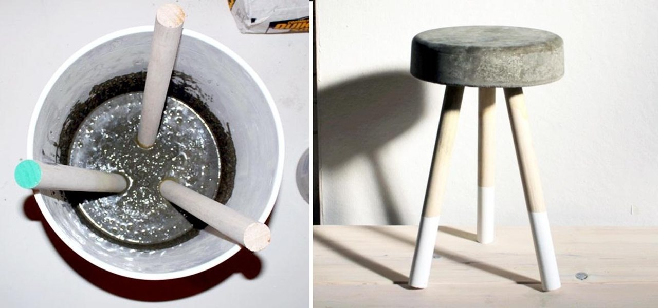 bar chairs concrete bonded leather chair and ottoman how to make a sweet 5 stool using wooden dowels