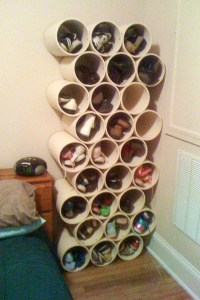 How to Build a Low-Cost Shoe Rack Using PVC Pipes ...