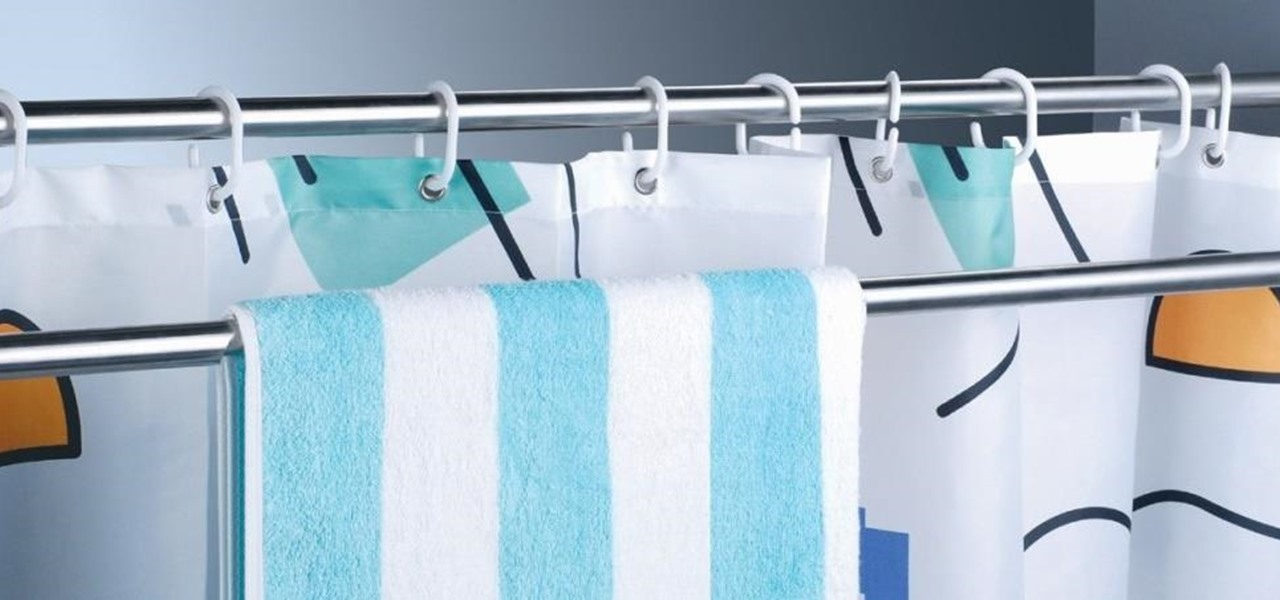 use extra shower curtain rods to