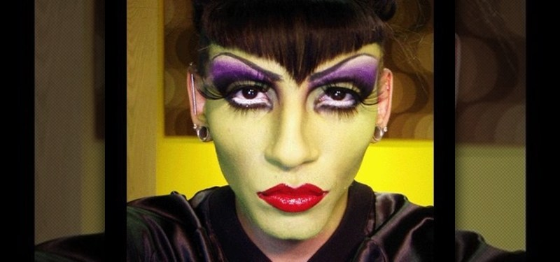 Maleficent Costume And Makeup For A Man