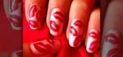 create red hot lips nail