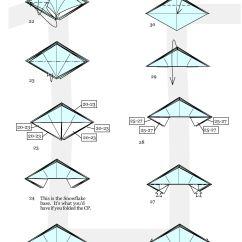 Christmas Origami Diagram Standard Trailer Wiring Ornament Diagrams How To Fold Decorations Ornate Winter Snowflakes Rh Wonderhowto Com Wreath