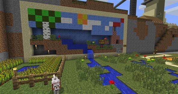 Bedroom Simple Minecraft Wallpaper