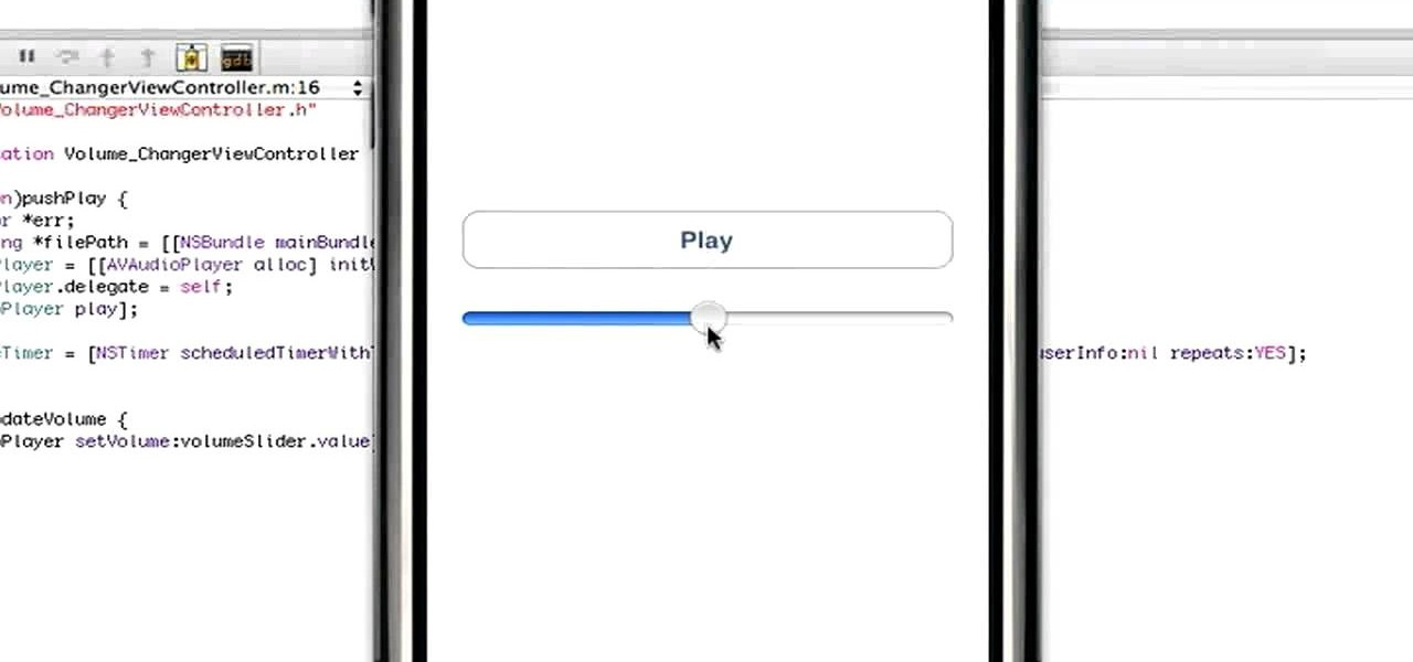 How to Implement a Volume Slider in an iPhone, iPad or