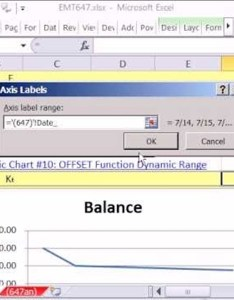 How to create  dynamic line chart for accounting in ms excel microsoft office wonderhowto also rh