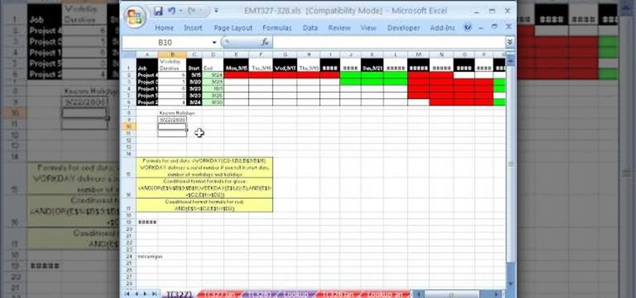 How To Make An Excel Gantt Chart That Highlights Workdays