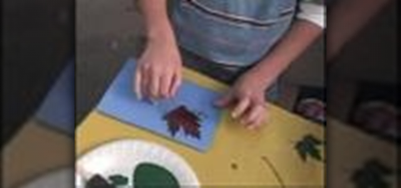 How To Create Greeting Cards Using Leaves Kids Activities