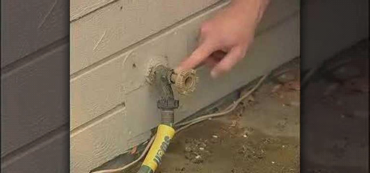 how to fix a leaky garden hose spigot