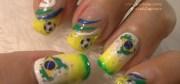 brazil inspired nail