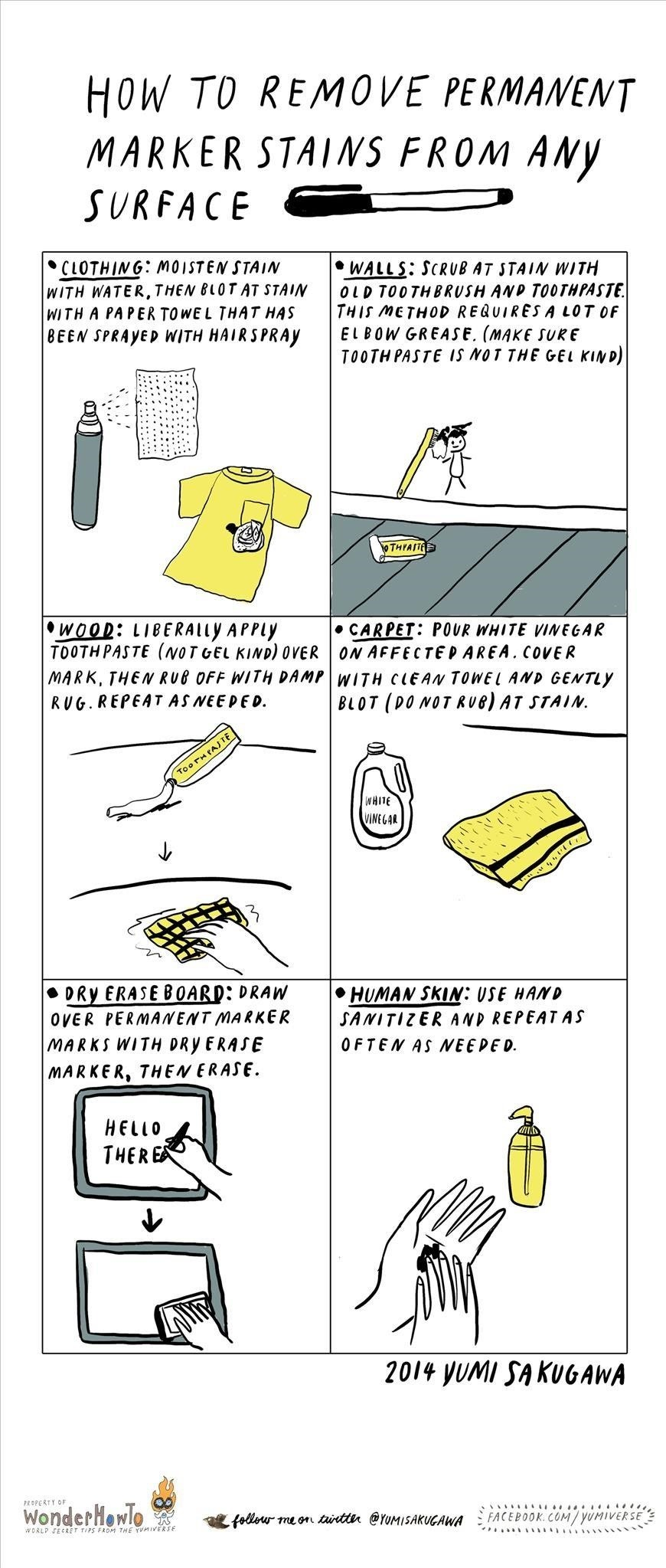 how to get rid of ink marks on leather sofa faux sofas reviews remove permanent marker stains from any surface the secret yumiverse wonderhowto