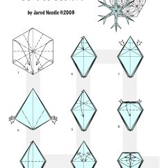 Christmas Origami Diagram Martial Arts How To Fold Decorations Ornate Winter