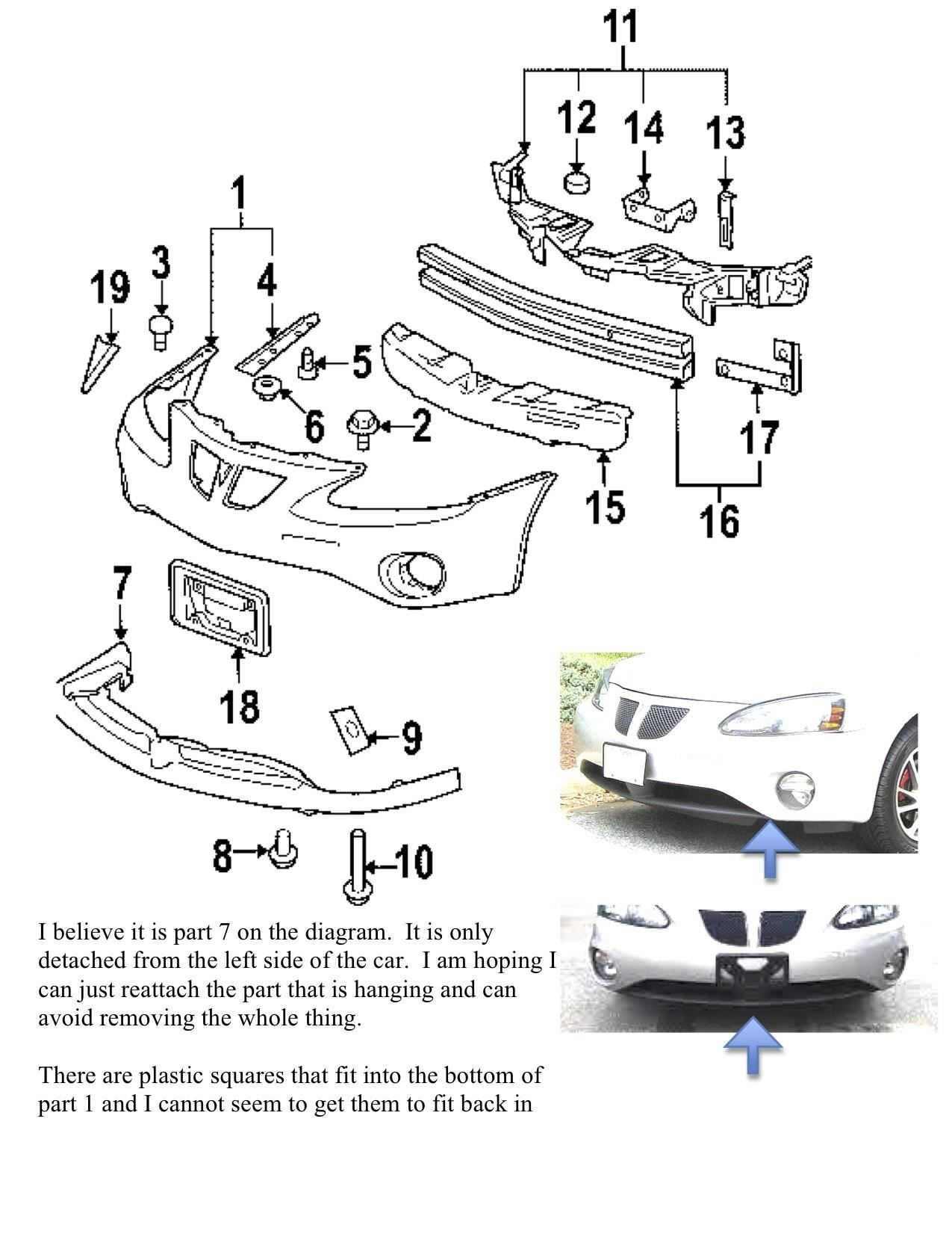 Chevy Malibu Front End Diagram