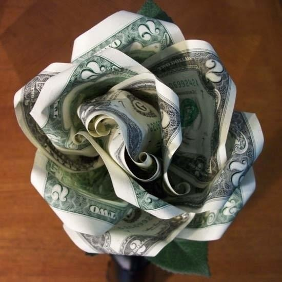 Money Origami: 10 Flowers to Fold Using a Dollar Bill ... - photo#1