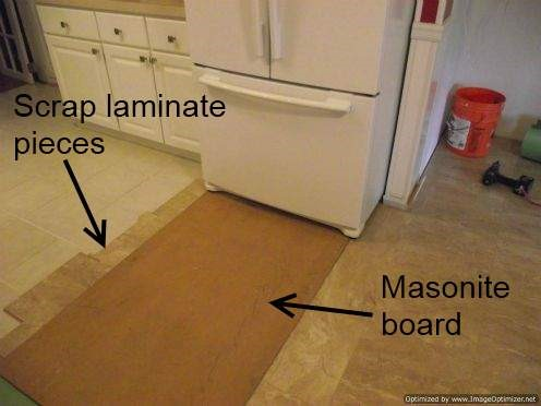 kitchen laminate tiles eat in island installing tile over ceramic diy floors