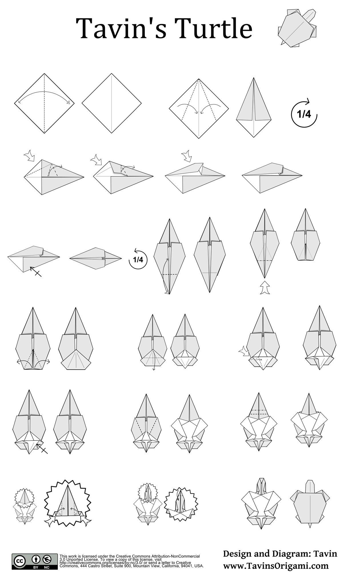 How To Fold A Turtle Tavin S Origami