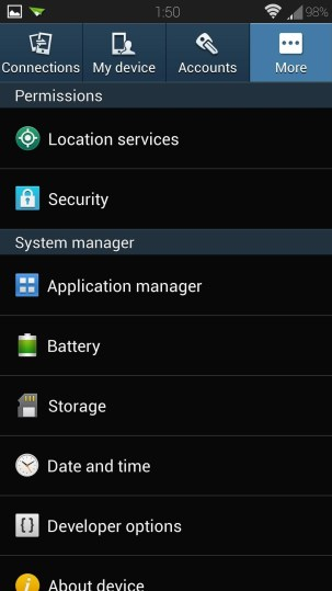 gosim  enable unknown sources android install apps outside play store