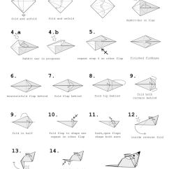 Hummingbird Diagram Of Color Jeep Cj2a Wiring Origami Mouse Tutorial Paper Kawaii