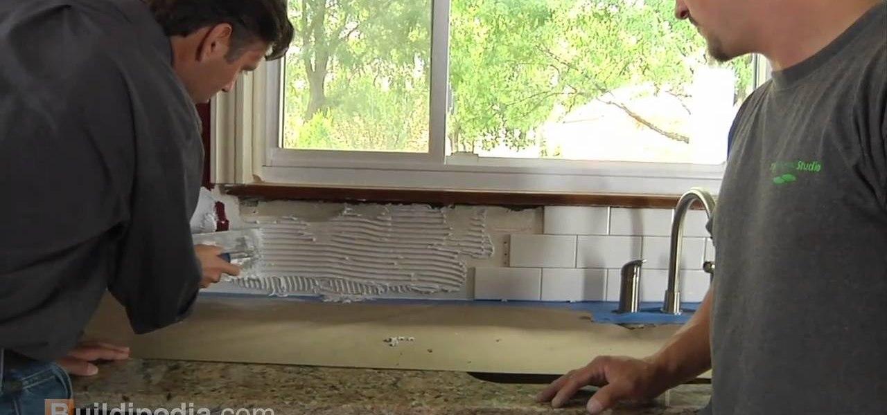 to install a ceramic tile backsplash