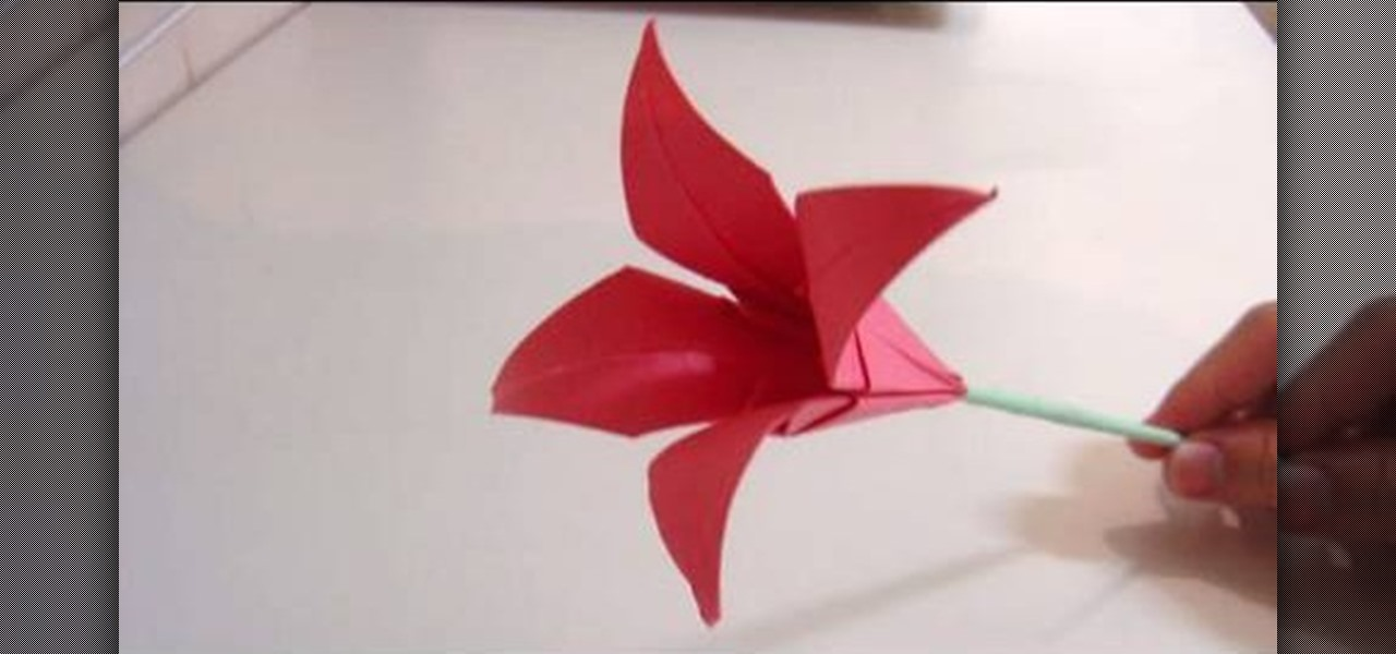 How To Make An Origami Lily Flower Origami WonderHowTo